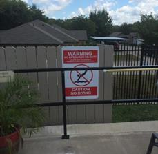 Park Manor Pool Safety Signs