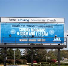Rivers Crossing Community Church Billboard