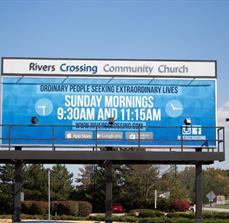 Rivers Crossing Community Church Billboard