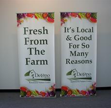 Sponsor banner stands