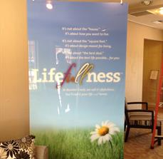 Health and wellness banner stands