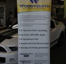 Automotive Dealership Banner Stands