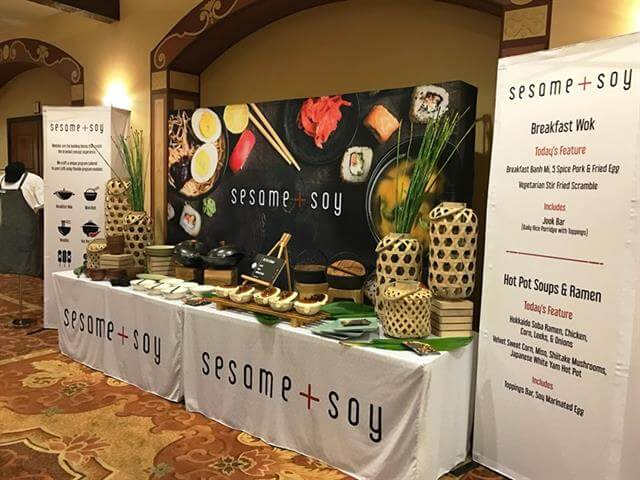 trade show tabletop signage