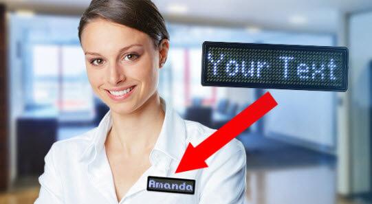 LED digital name badges