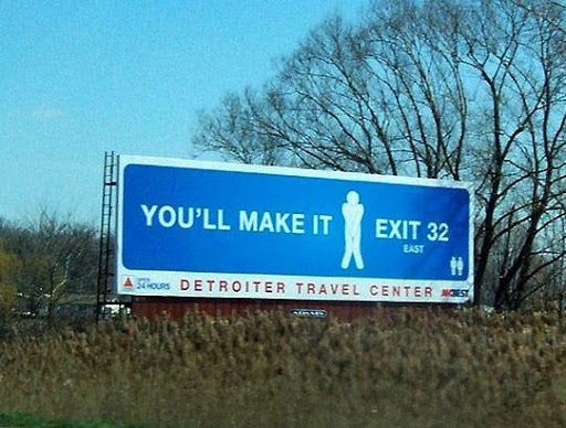 funny roadside signs