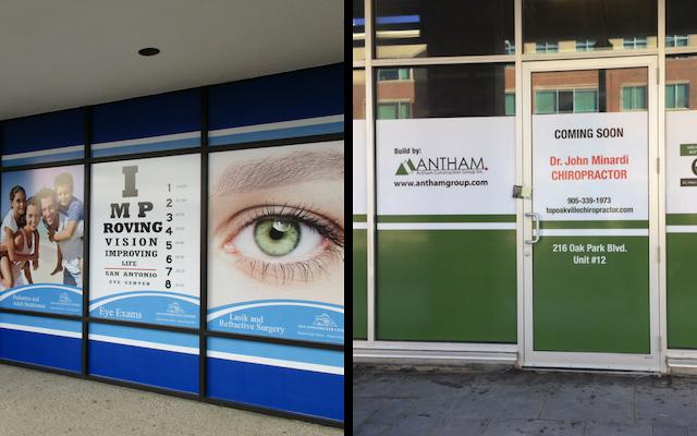 exterior branded window graphics