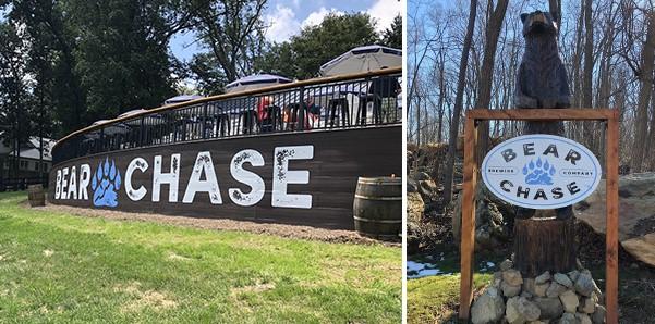 Bear Chasing Brewing Company exterior signage