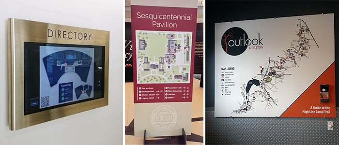 Make wayfinding even easier with digital and print directories.