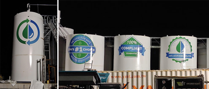 Union Process Plant Water Waste decals