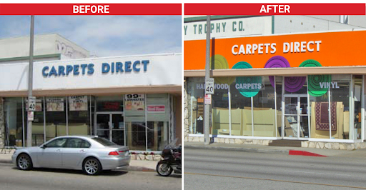 business sign refresh - before and after