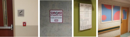 healthcare facility regulatory signage