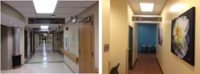 healthcare interior wayfinding signage