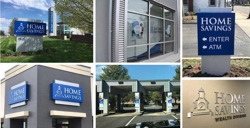 Home Savings Bank refreshed signage