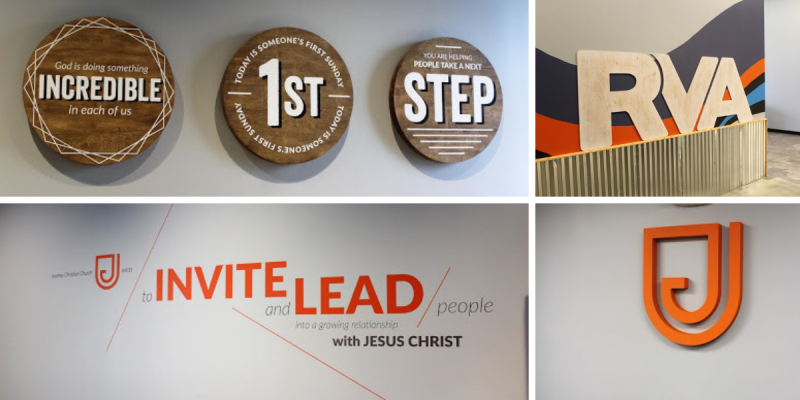 Journey Christian Church vinyl and 3D wall graphics