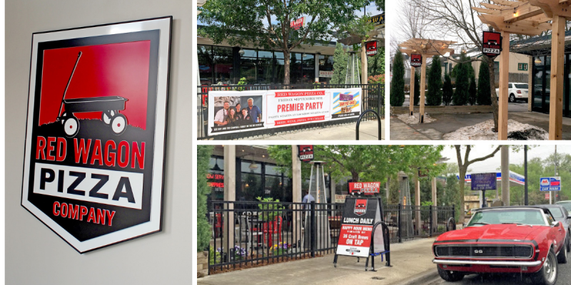 restaurant branded exterior signage