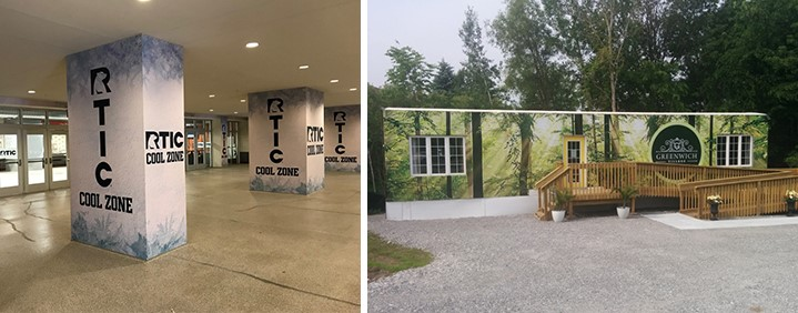 Vinyl wrapped over existing structures to give a refreshed look