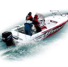 Custom vinyl boat graphics