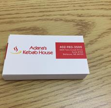 Adanas Kebob House Business Cards