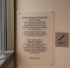 Hardin Memorial Hospital Wall Plaque