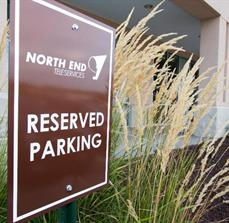 North End Teleservices Parking Sign
