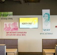 North End Teleservices Wall Graphics, Wall Letters, And Digital Signage