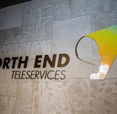 North End Teleservices Wall Lettering