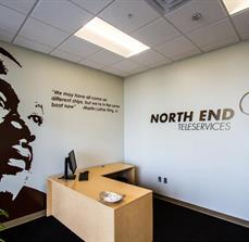 North End Teleservices Wall Lettering And Graphics