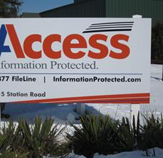 Data Security Company Site Signs