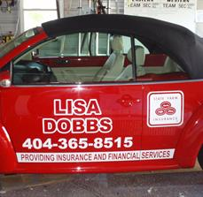 Business vehicle graphics