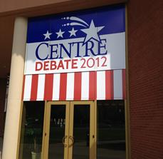 Political debate window decals