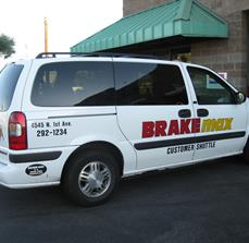 Customer Shuttle Car Graphics