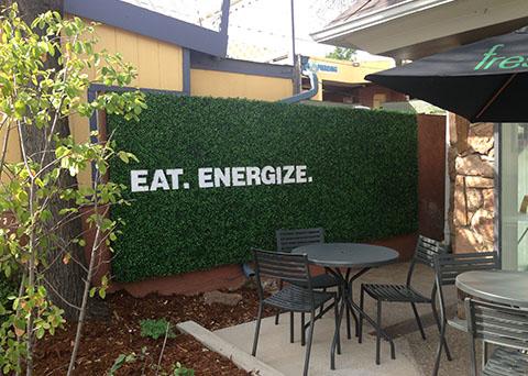 exterior custom branded signage
