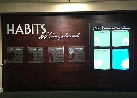 illuminated wall signage