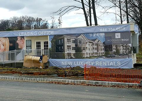 site signage, building wrap