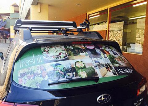 vehicle window graphics freshii