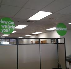 Customer Service Ceiling Signs