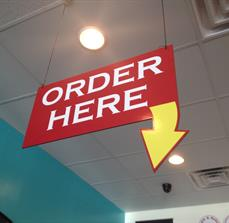 Order Here restaurant signs