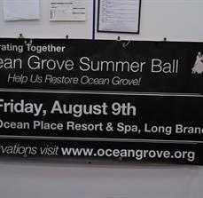 Charity ball banner