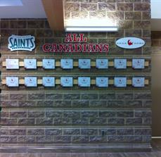 Custom athletic wall of fame signs
