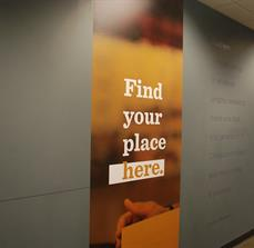Church wall graphics and lettering
