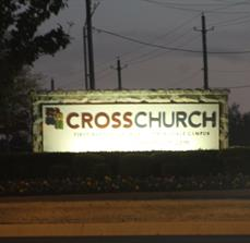 Illuminated Church Sign