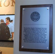 Seminary school plaques