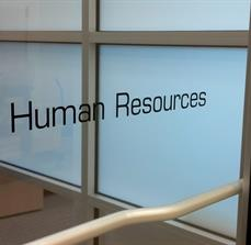 Human resources office window graphics