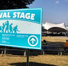 Festival directional signage