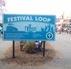 Festival wayfinding signs