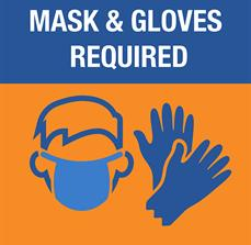 Mask and Gloves Required Sign