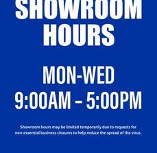 A-Frame Limited Showroom Hours