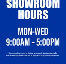A-Frame Limited Showroom Hours