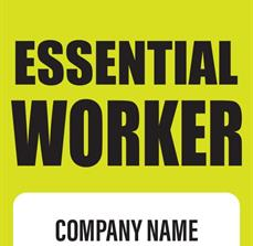 Essential Worker Badge