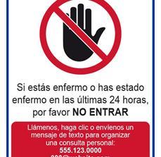 Do You Feel Sick Window Decal (Spanish)